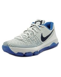 Nike | White Kd 8 Round Toe Synthetic Basketball Shoe for Men | Lyst