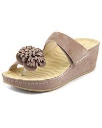 David Tate | Brown Jolly Open Toe Suede Platform Sandal | Lyst