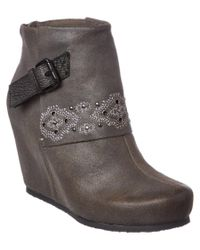 Otbt | Gray Women's Robertson Leather Bootie | Lyst