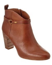 Lucky Brand | Brown Mabina Leather Bootie | Lyst