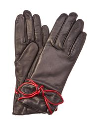 Grandoe | Black Sirena Women's Leather And Cashmere Blended Glove | Lyst