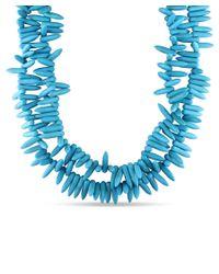 Catherine Malandrino - Blue Turquoise Beaded Necklace - Lyst