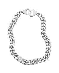 Eklexic | Metallic Handcuff Clasp Necklace | Lyst