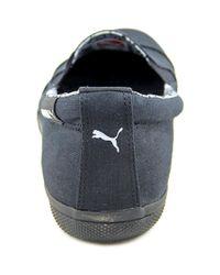 PUMA - Black Pc Extreme Vulc Cap Toe Canvas Loafer - Lyst