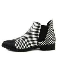 Gx By Gwen Stefani - Black Tycoon Women Wingtip Toe Leather Boot - Lyst