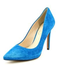 Jessica Simpson | Premer Women Pointed Toe Suede Blue Heels | Lyst