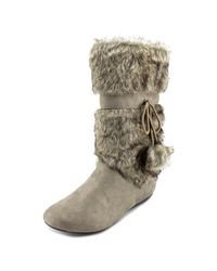 Report | Gray Emme Round Toe Synthetic Winter Boot | Lyst