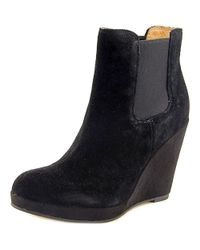 Corso Como - Coast Women Round Toe Suede Black Ankle Boot - Lyst