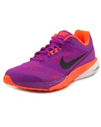 e92f0322f7f9 Lyst - Nike Tri Fusion Run Round Toe Synthetic Running Shoe in Purple