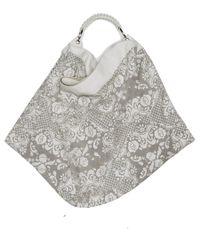 Nada Sawaya | Gigli Oversized Hobo Bag Laser Cut Leather Off White | Lyst