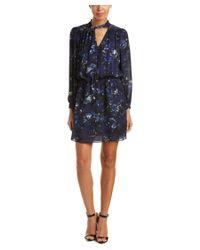 Parker | Blue Eloise Combo Silk Dress | Lyst