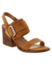 Kenneth Cole - Brown New York Em Suede Sandal - Lyst
