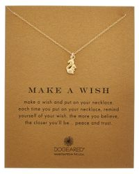 Dogeared - Metallic 14k Over Silver Make A Wish Squirrel Necklace - Lyst