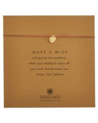Dogeared   Metallic 14k Over Silver Make A Wish Apple Necklace   Lyst