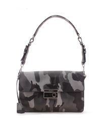 Prada - Green Camo Pattern Saffiano Leather Shoulder Handbag - Lyst