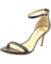 Sam Edelman | Patti Women Open Toe Leather Black Sandals | Lyst