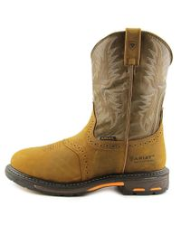 Ariat - Brown Workhog Round Toe Leather Hunting Boot for Men - Lyst