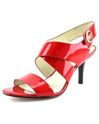 MICHAEL Michael Kors - Joselle Open Toe Women Open Toe Patent Leather Red Sandals - Lyst