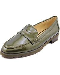 COACH | Green Peyton Women Round Toe Patent Leather Loafer | Lyst