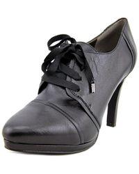 Tahari | Black Grace Round Toe Leather Heels | Lyst