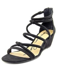 American Rag | Black Calla Open Toe Synthetic Wedge Sandal | Lyst