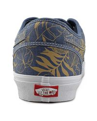 Vans - Blue Chukka Low Round Toe Canvas Sneakers for Men - Lyst