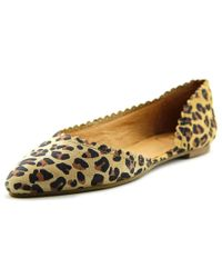 Jack Rogers | Natural Chantel Round Toe Suede Flats | Lyst