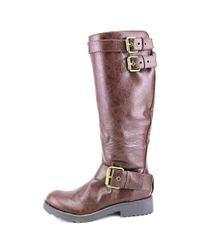 Nine West - Brown Aragosta Round Toe Synthetic Knee High Boot - Lyst