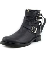Frye | Veronica Strap Short Women Round Toe Leather Black Ankle Boot | Lyst