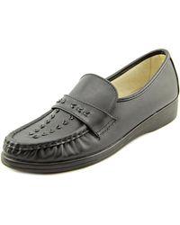 Softspots | Black Venus Lite N/s Moc Toe Leather Loafer | Lyst