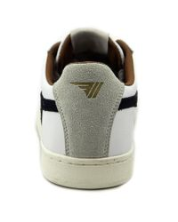 Gola - White Equipe Men Round Toe Leather Sneakers for Men - Lyst