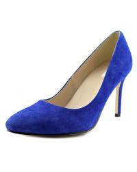 Cole Haan | Fair Haven Pumps Women Pointed Toe Suede Blue Heels | Lyst