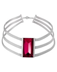 Baccarat - Metallic So Insomnight Silver Crystal Choker Necklace - Lyst