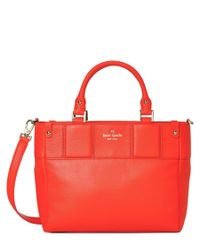 kate spade new york | Pink Summit Court Gillian Leather Shoulder Bag | Lyst