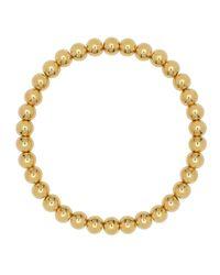 Eklexic - Metallic Small Gold Ball Stretch Bracelet - Lyst