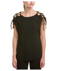 Susana Monaco - Black Lace-up Shoulder Top - Lyst