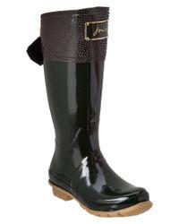 Joules | Green Women's Evedon Rain Boot | Lyst