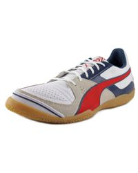 PUMA | Invicto Sala Men Round Toe Leather White Running Shoe for Men | Lyst