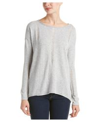 Splendid   Gray Distressed Wool & Cashmere-blend Pullover   Lyst