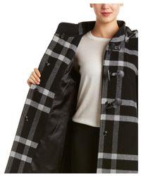 Cinzia Rocca   Black Wool-blend Coat   Lyst