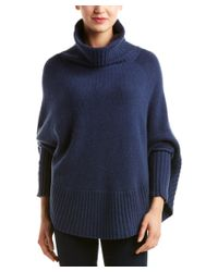 Portolano | Blue Wool-blend Poncho | Lyst