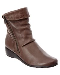 Mephisto - Brown Women's Seddy Leather Bootie - Lyst