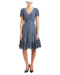 Rebecca Taylor | Blue Paisley Silk A-line Dress | Lyst