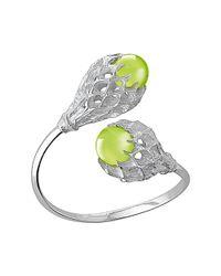 Baccarat - Metallic Merveille Silver Crystal Cuff Bracelet - Lyst