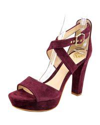 Vince Camuto | Purple Shayla Women Open Toe Suede Platform Heel | Lyst