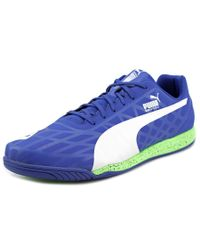 PUMA | Evospeed Star Iv Men Round Toe Synthetic Blue Sneakers for Men | Lyst