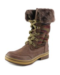 Rocket Dog | Brown Surihk Round Toe Synthetic Snow Boot | Lyst