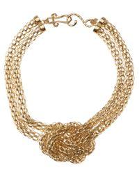 Kenneth Jay Lane | Metallic Knot Necklace | Lyst