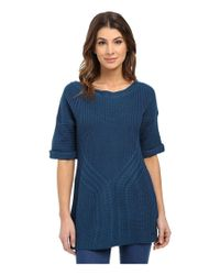 Calvin Klein - Blue Elbow Sleeve Cable Knit Sweater - Lyst