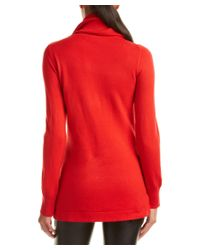 French Connection - Red Babysoft Cowl Neck Sweater - Lyst